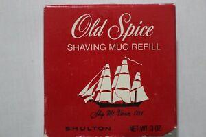 AUTHENTIC VINTAGE OLD SPICE SHAVING MUG REFILL ~ SHULTON ~ 3 oz ~ UNUSED SOAP