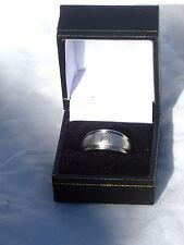 Nuevo en Caja Solitario Corte Cuadrado Diamante 9Ct Blanco Anillo de Oro