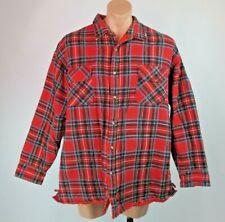 McGregor VTG Heavy Flannel Quilted Plaid Lumberjack Trucker Shirt Jacket 2XL