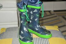 BOYS WELLIES BLUE WITH BUGS SIZE KIDS 12