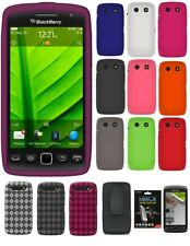 AMZER Skin TPU Holster Case Screen Protector For BlackBerry Torch 9860 9850