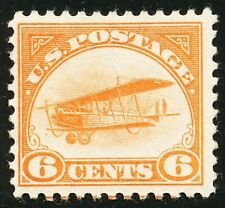 DR JIM STAMPS US SCOTT C1 6C CURTISS JENNY UNUSED OG HINGED NO RESERVE