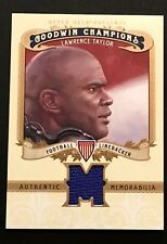 2012 UD Goodwin Champions #M-LT LAWRENCE TAYLOR Giants HOF GAME WORN