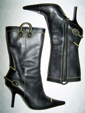 "STIVALI "" DISQUARED"" LEATHER BLACK SKIN  BOOTS N°37"