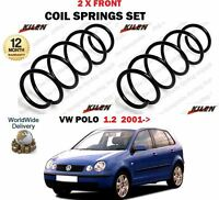 Pour Volkswagen VW Polo 1.2 + 12v 9N 2001> Neuf 2 X Avant Bobine Jeu de Ressorts