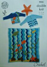 CROCHET PATTERN Baby Blanket Baby Jumper Baby Jacket & Starfish Toy DK KC 9026