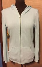 Women's Blue Thermal Hoodie Size Medium Good Condition