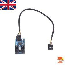 Motherboard USB 9Pin Header Multiplier Extension Cable 1 to 2 Splitter