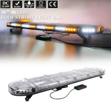 "50"" Led Emergency Warning Safety Truck Hazard Flash Amber White Strobe Light Bar"