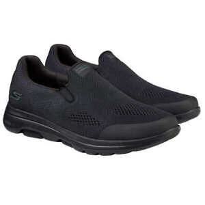New Skechers Men's Go Walk Black Air Cooled Slip On Memory Foam Shoes Size 12