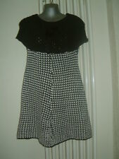 Jumper Ladies Dress Talla 8/10 Nueva Sin Etiquetas Blanco Y Negro