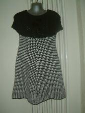 LADIES JUMPER  DRESS SIZE 8/10 NWOT BLACK & WHITE