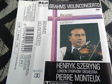 Henryk Szeryng Pierre Monteux Brahms Violin Concerto RCA Cassette Tape