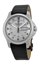 VICTORINOX SWISS ARMY 241550 MENS QUARTZ WATCH MEDIUM GREY DIAL LEATHER 40MM