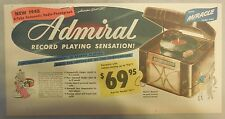New 1948 6-Tube Automatic Admiral Radio Phonograph from 1948