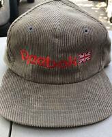 REEBOK HAT CAP SNAPBACK VINTAGE RETRO MEN'S FASHION CORDUROY RARE!!!