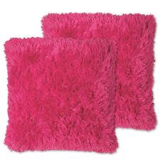 "Very Soft & Comfy Plush Long Faux Fur 18"" x 18"" Throw Pillows 2 pack"