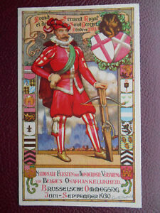 Brusselsche Ommegang Nationale Feesten Belgium 1930 Artist Drawn Heraldic