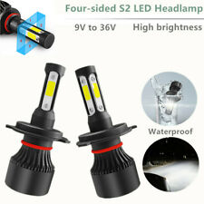 2 X H4 LED Car Headlight Conversion Kit COB Bulb White Power 6000K 360° Headlamp