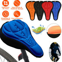 3D Bike Bicycle Cycling Seat Cover Pad Saddle Padded Cushion Comfort Breathable