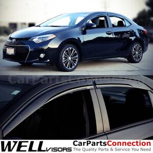WellVisors Window Visors 14-19 For Toyota Corolla Side Deflectors Aerodyn