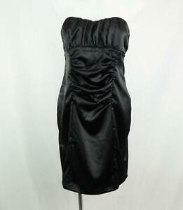 Frederick's of Hollywood Women's Classic Strapless Cocktail Dress Black Size 14