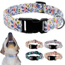 Fashion Floral Pet Cat Dog Collars Adjustable Nylon Quick Fit Small Medium Large