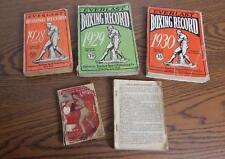 1918 Police Gazette Sporting Annual & 1922 28 29 & 30 Everlast Boxing Records