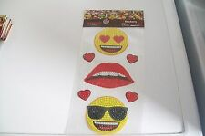 1 SHEET EMOJI DIAMOND STICKER/ SHEET = 24X13 CM (A) NEW NEW