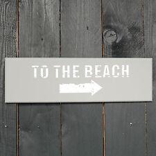 "Schild Beach /""Time To Relax/"" Deko Maritim Holzschild weiß türkis Wandbild"