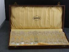 12 schöne alte Messerbänke Kristall Wempe ca. um 1920
