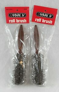 Vintage 1980s Mark 4 Hair Styling Roll Brush R5000 Japan Three 7 NOS - Lot of 2