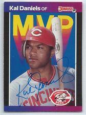 Kal Daniels signed 1989 Donruss baseball, Cincinnati Reds autograph BC-18