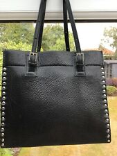 Black Leather Bally Bag Fab Condition
