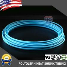 "100 FT. 100' Feet BLUE 1/8"" 3mm Polyolefin 2:1 Heat Shrink Tubing Tube Cable US"