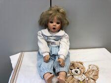 Jessica Sauer Porzellan Puppe 50 cm. Limitierte Auflage. Guter Zustand