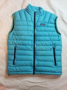 Patagonia Down Puffer Style Vest Mens Mefium Blue