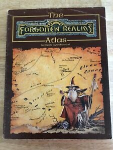 Vintage - Dungeons & Dragons - The Forgotten Realms Atlas - Good
