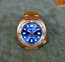 San Martin Bronze Turtle 6105 Automatic Diver's Watch Blue Dial NH35 Mint