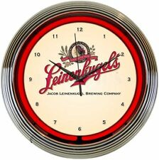Leinenkugels Beer Neon Clock New Wall Clock Neonetics