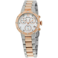 Bulova Diamonds Analog Display Japanese Quartz Two Tone Women's Watch 98R210