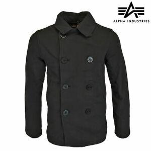 Pea Coat US Navy Military Vintage Style Lightweight Alpha Industries Soft Jacket