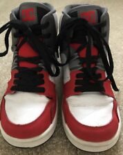DC Shoes Youth Spark High RS skateboard hightop Red White Black Grey Sz5.5 Yth