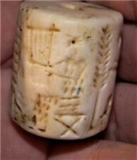 32mm Ancient Near Eastern Stone Cylinder Seal Bead, 3000+ Years Old, #S1512