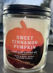 "Bath & Body Works - ""Sweet Cinnamon Pumpkin"" 1-Wick Scented Candle- 7 Oz"