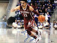 Trae Young signed 11x14 Photo BAS Beckett COA Hawks Oklahoma All Star B331