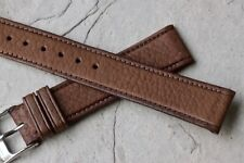 Vintage 18mm Bulova Aerojet watch strap 1960s/70s NOS textured leather 20+ sold