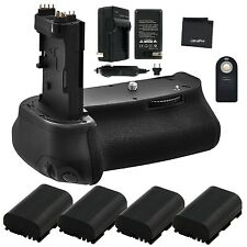 Batería Grip Paquete f/Canon Eos 6D Mark II: incluye repuesto BG-E21...