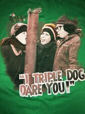 "A Christmas Story ""I Triple Dog Dare You!"" Green Shirt Adult Medium M New Nwot"