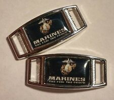 Set of 2 U.S. Marine Corps FEW THE PROUD Shoelace Charms For Paracord Projects